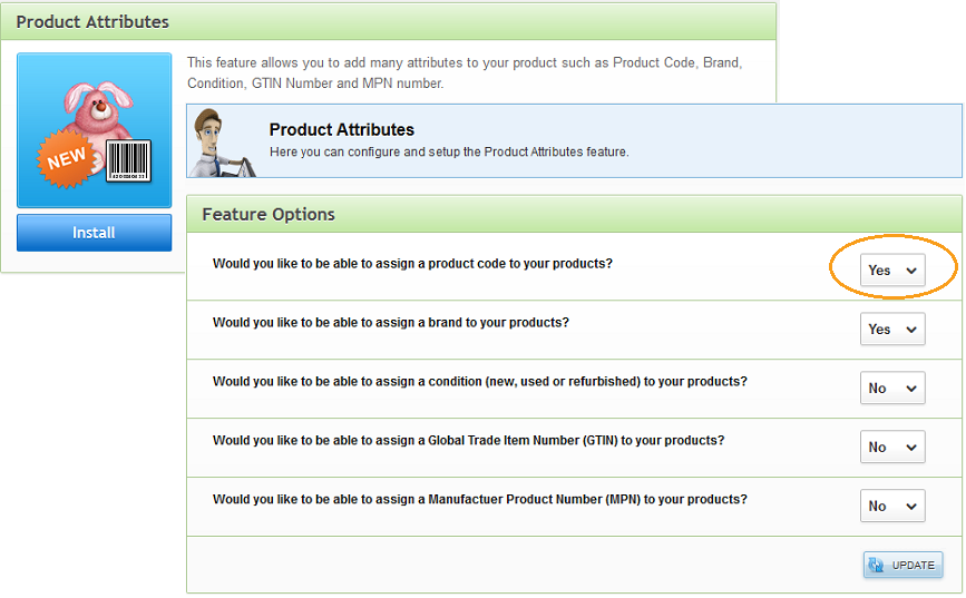 EKM prepare product attributes