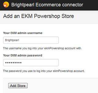 EKM install enter details