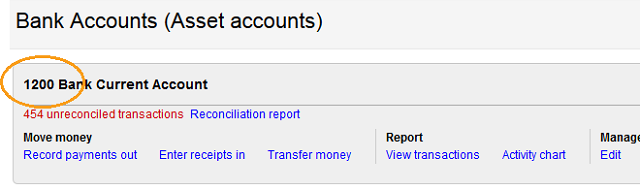 how to set bank account