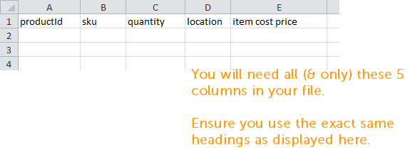 Howto Update inventory by CSV 2