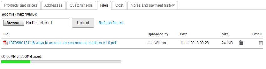 sales file