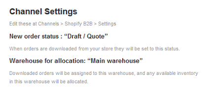 Shopify Activate Settings