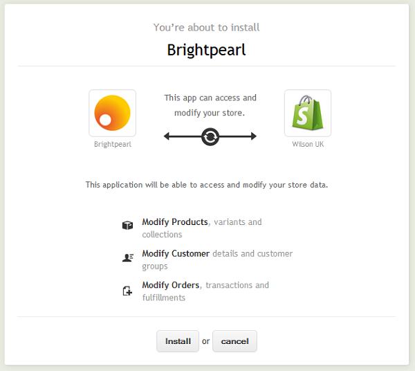 Shopify Install app