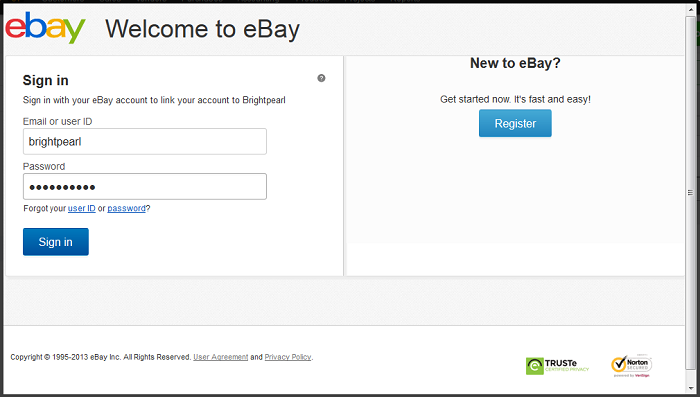 eBay Install connect login