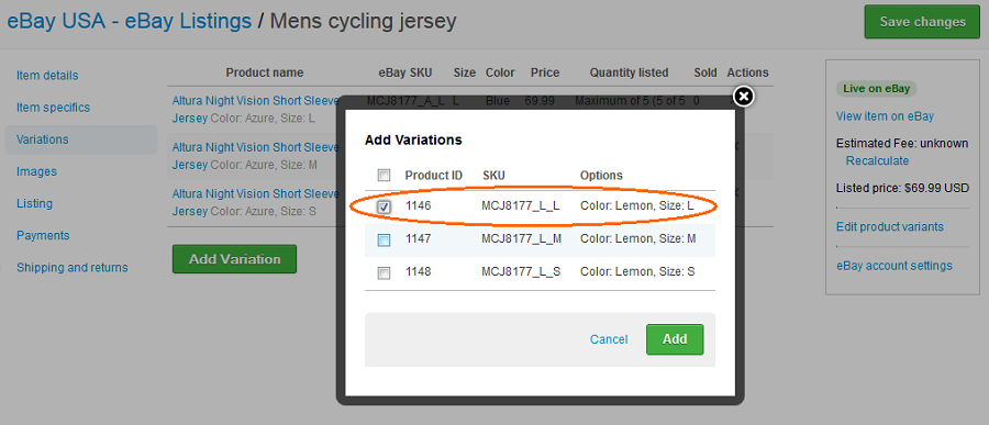 Managing Listings Edit End Relist Brightpearl Help Center