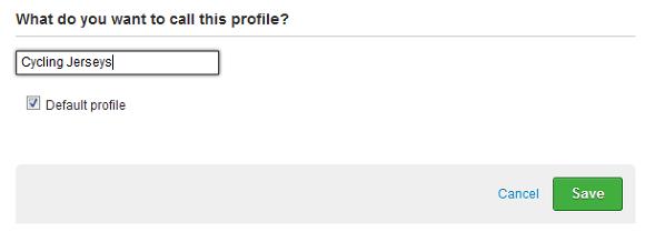 eBay listing profile name