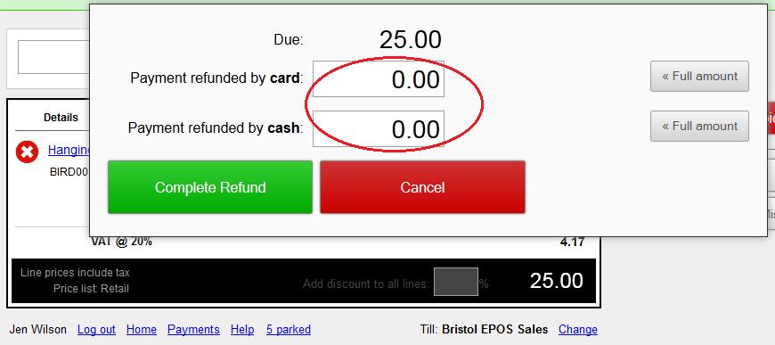 refund zero