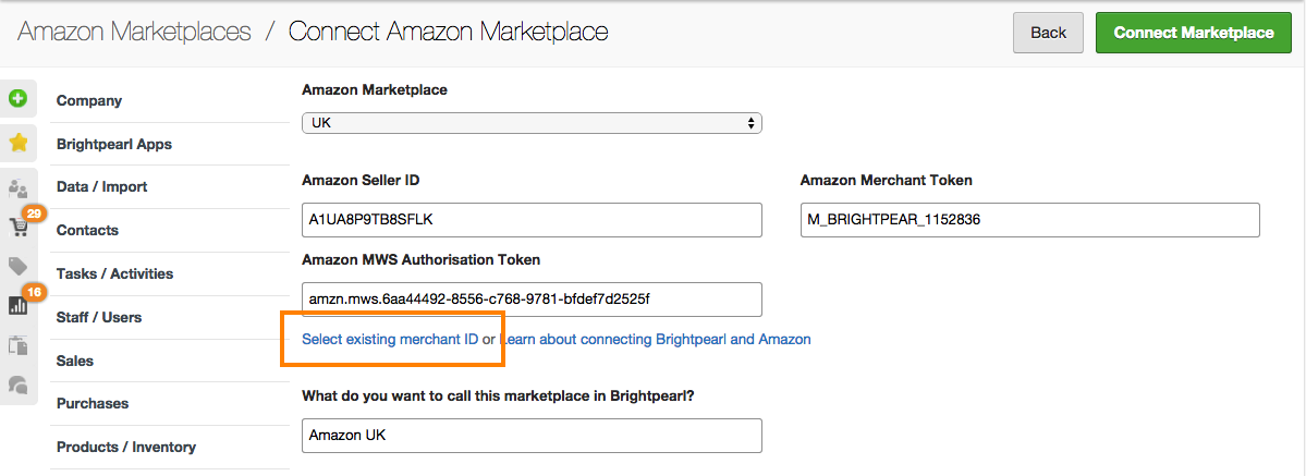 amazon details select existing
