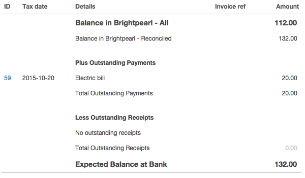 bank reconciliation credit card reconciliation brightpearl help