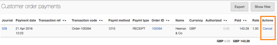 cancel order payment