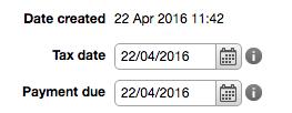 order dates
