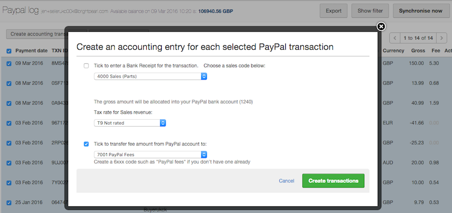 paypal pay create