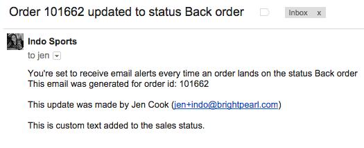 sales order status email update